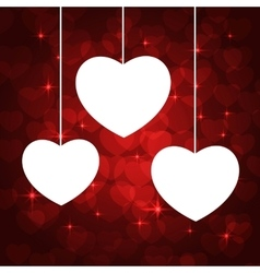 white heart frame vector image