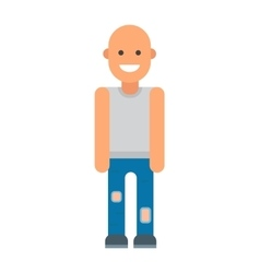 Bald man vector image