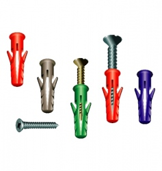 dowel screw vector image vector image