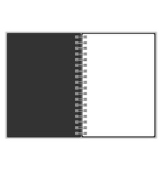 empty blank of spiral notebook Spiral notebook vector image vector image