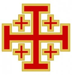 Jerusalem cross vector image