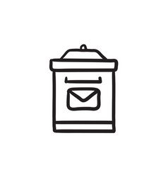 Mail box sketch icon vector