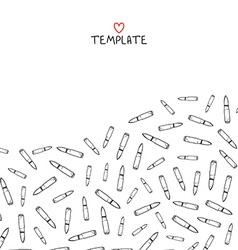 Pattern template with scattered bullets Doodle vector image