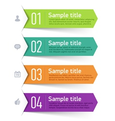 Text box infographics element vector image vector image