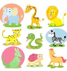 wild animal set vector image