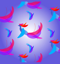 abstract fantasy bird vector image