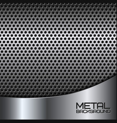 Abstract metal background with perforation vector image vector image