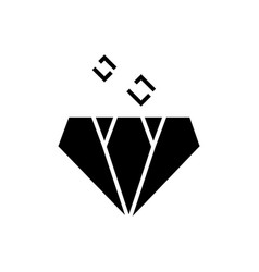 diamond icon black sign on vector image