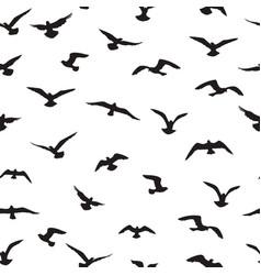 flying birds tiled pattern freedom sign vector image
