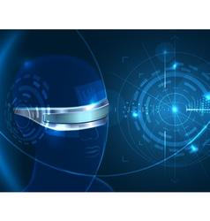 Futuristic Glasses vector image vector image
