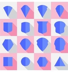 Set of emblems shields style flat design vector image