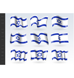 3d waving flag israel isolated on white vector image