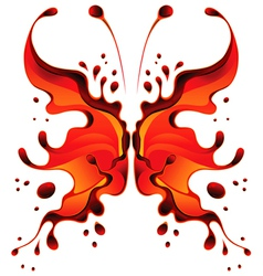 Abstract red butterfly blot for design vector
