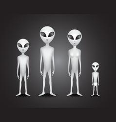 Alien family vector image