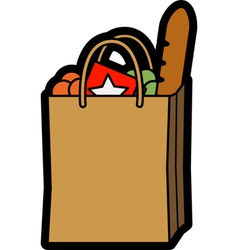 Bag of shopping vector