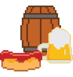 Beer Pixel-art or 8-bit style vector