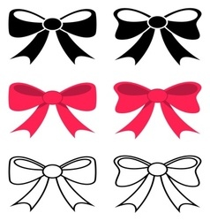 Black and red bows vector image