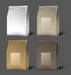 Blank packaging mock up vector