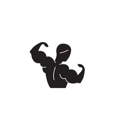 bodybuilding black concept icon vector image
