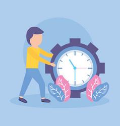 businessman clock time vector image