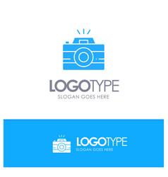camera image photo photography blue solid logo vector image