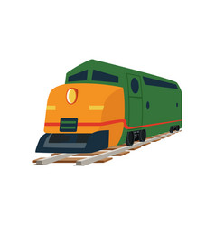 cargo or passenger train locomotive vector image