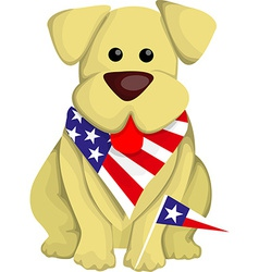Cartoon usa dog vector image