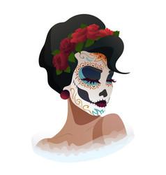 Catrina day of the dead symbol of mexico vector