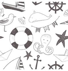 Child marine pattern vector