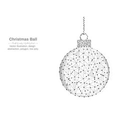 christmas ball new year made by points and lines vector image