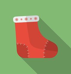ChristmasSockFlat vector image