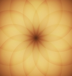 Circle elements with golden background vector