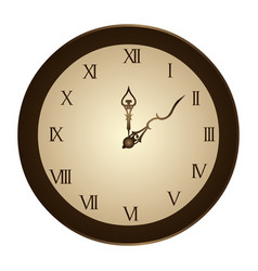 Circular frame with wall clock vector