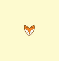 cute fox love logo icon vector image