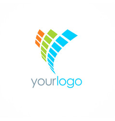 digital loop technology logo vector image
