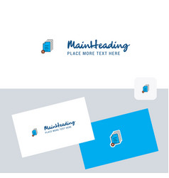 document setting logotype with business card vector image