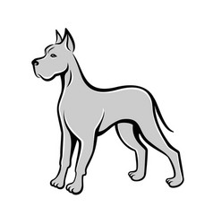 Dog line art drawing can be used as logo vector