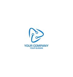 electric service logo design vector image