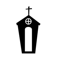 Exterior church building icon vector