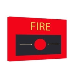 Fire alarm icon cartoon style vector image
