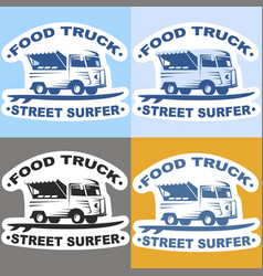 Food truck stickers vector