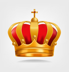 gold crown luxury monarchy symbol vector image