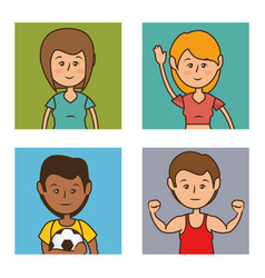 group people healthy lifestyle vector image
