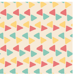grunge geometric triangle pattern seamless backgro vector image