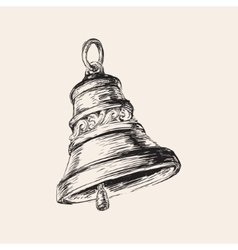 Hand Drawn Christmas Bell vector image