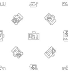 Handbag lunch icon outline style vector