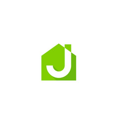 home letter j logo icon design vector image