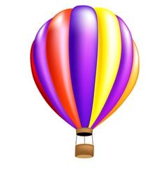 Hot air balloon colorful vector