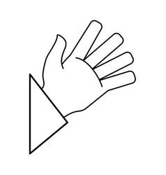 human hand draw vector image
