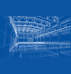 Industrial zone sketch vector
